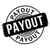 Payout rubber stamp. Grunge design with dust scratches. Effects can be easily removed for a clean, crisp look. Color is easily changed Stock Photography