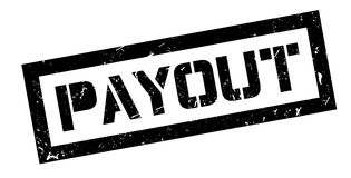Payout rubber stamp. On white. Print, impress overprint Stock Photography