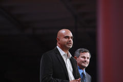 PayPal αντιπρόεδρος Nat Natarajan στοκ φωτογραφίες