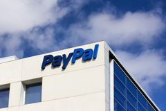 PayPal Corporate Headquarters Sign. Stock Image