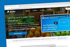 Paypal strony internetowej Homepage obraz royalty free