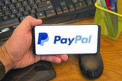 Paypal zastosowanie zdjęcia stock