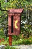 payphone будочки деревенский Стоковая Фотография