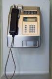 Payphone на стене Стоковое Изображение RF