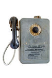 Payphone. Last century. Made in the USSR stock photo