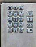 Payphone keypad. Stock Image
