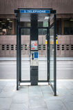 Payphone in Liverpool city Centre, UK Stock Photography