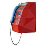 Payphone no fundo branco Fotografia de Stock