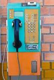 Payphone op de muur Stock Afbeelding