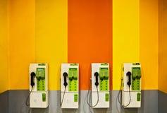 Payphone på den offentliga väggen Arkivbilder