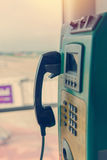 Payphone or public telephone coin and card in Thailand Stock Photography