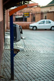 Payphone on the street in Marrakech Stock Photo