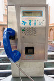 Payphone on the street Royalty Free Stock Photos