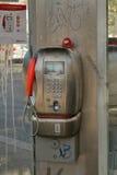 Payphone TELECOM ITALIA in een telefooncel Royalty-vrije Stock Fotografie