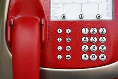 Payphone in Vienna. The street stock image