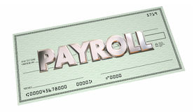 Payroll Accounting Check Payment Words Royalty Free Stock Image