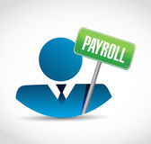 Payroll avatar sign concept illustration design Stock Photo