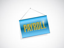 Payroll banner sign illustration design. Over a white background Stock Photography