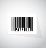 Payroll barcode sign concept illustration Stock Photo