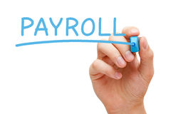 Payroll Blue Marker Royalty Free Stock Image