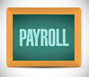 Payroll board sign concept illustration Stock Photos