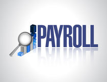 Payroll business graph sign concept. Illustration design over white Stock Image