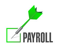 Payroll check dart sign concept illustration Stock Photo
