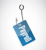 Payroll hook tag sign concept illustration Stock Photography