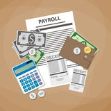 Payroll invoice concept Royalty Free Stock Images