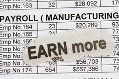 Payroll ledge Stock Images