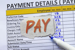 Payroll ledger royalty free stock images