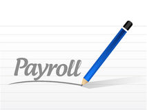 Payroll message sign concept illustration Stock Photos
