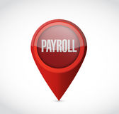 Payroll pointer sign concept illustration design Stock Image