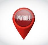 Payroll pointer sign concept illustration design Stock Image