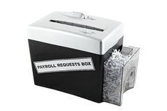 Payroll requests box shredder isolated Royalty Free Stock Photography