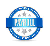 Payroll seal sign concept illustration Stock Photos