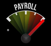 Payroll speedometer sign concept illustration Stock Photography
