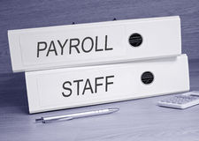 Payroll and staff  Royalty Free Stock Photography