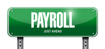 Payroll street sign concept illustration design. Over white Royalty Free Stock Images