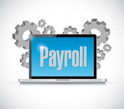 Payroll tech computer sign concept Royalty Free Stock Photos