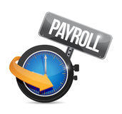 Payroll time sign concept illustration design Stock Images