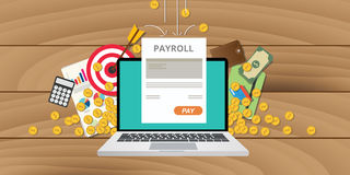 Payroll wages money salary. Calculator accounting icon Royalty Free Stock Photography