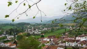Pays Basque, Άγιος Jean Pied de Port στο νότο της Γαλλίας απόθεμα βίντεο