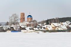 Pays Cherdantseva latéral dans la région de Sverdlovsk Images stock