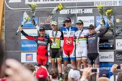 Pays croisé 2013, Mont Ste-Anne, B de coupe du monde d'UCI Images stock