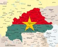 Pays de Burkina Faso illustration stock