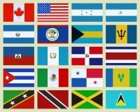 Pays de l'Amérique du Nord illustration stock