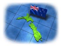 Pays de la Nouvelle Zélande avec son indicateur illustration de vecteur