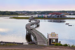 Pays de la Saguoine, New Brunswick, Canada. Pays de la Saguoine, a fishing village on an island with accessible boardwalk in Bouctouche, New Brunswick in the Royalty Free Stock Photo