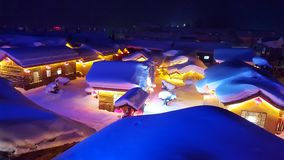 Pays de neige Photos stock